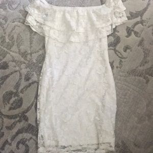 New look off the shoulder lace dress